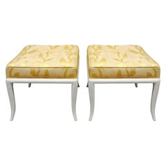 Robsjohn-Gibbings Pair of Curved Leg Benches, 1950s