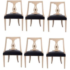 Set of Six Renzo Rutili Dining Chairs