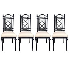 20th Century Chinese Chippendale-Style Dining Chairs - In/Outdoor - Set of Four