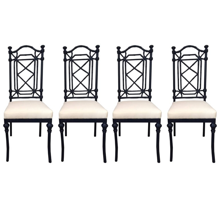 20th century chinese chippendale style dining chairs in for Interior design styles 20th century