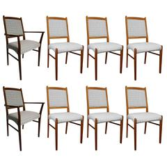 1970 Rasmus Furniture Set of Eight Dining Chairs