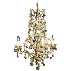 Italian Florentine Triple-Light Antique Chandelier
