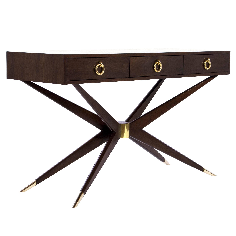 Walnut Sputnik Console Table