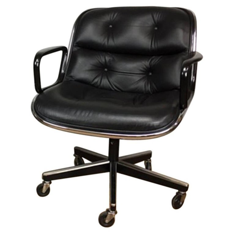 Charles Pollock Leather Executive Office Chairs for Knoll 1