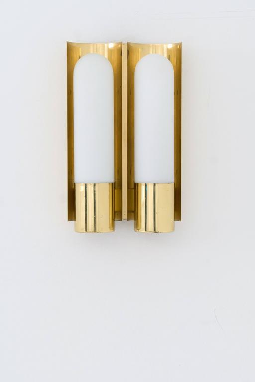 Brass German Double Wall Sconce 2