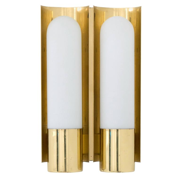 Brass German Double Wall Sconce 1