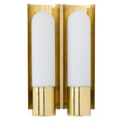 Brass German Double Wall Sconce