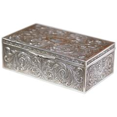 Dodge Inc Silver Plate Jewelry Box with Bakelite Inner Tray