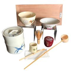 Japan Fine Old Tea Ceremony Set Complete Signed Mint and Boxed