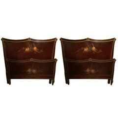 Pair of Lovely Twin Bed Frames by Widdicomb