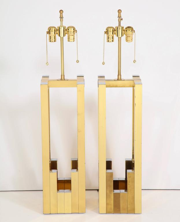 Late 20th Century Pair of Lumica Italian Table Lamps by Willy Rizzo For Sale