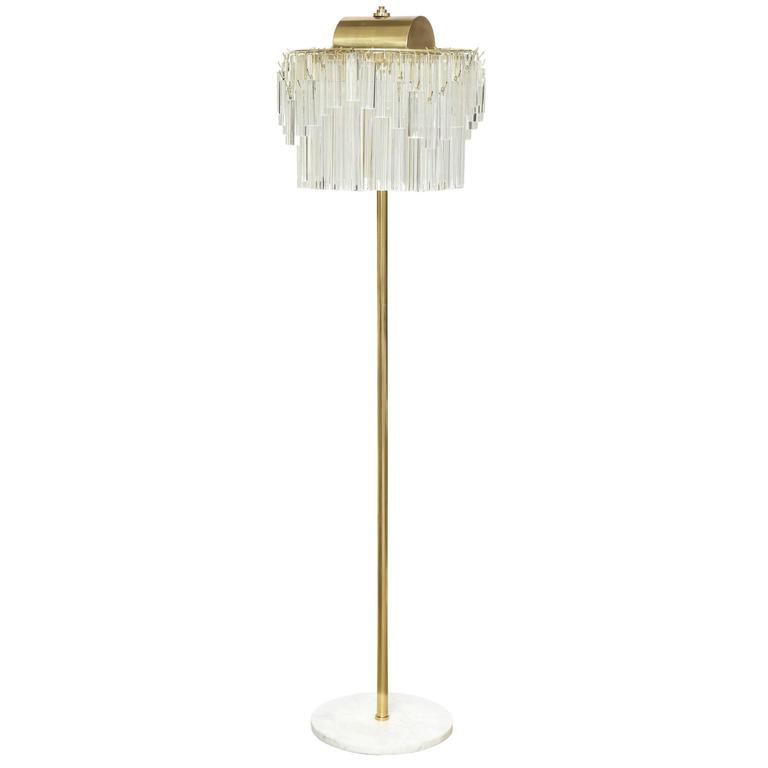 Venini Crystal Prism Floor Lamp For Sale