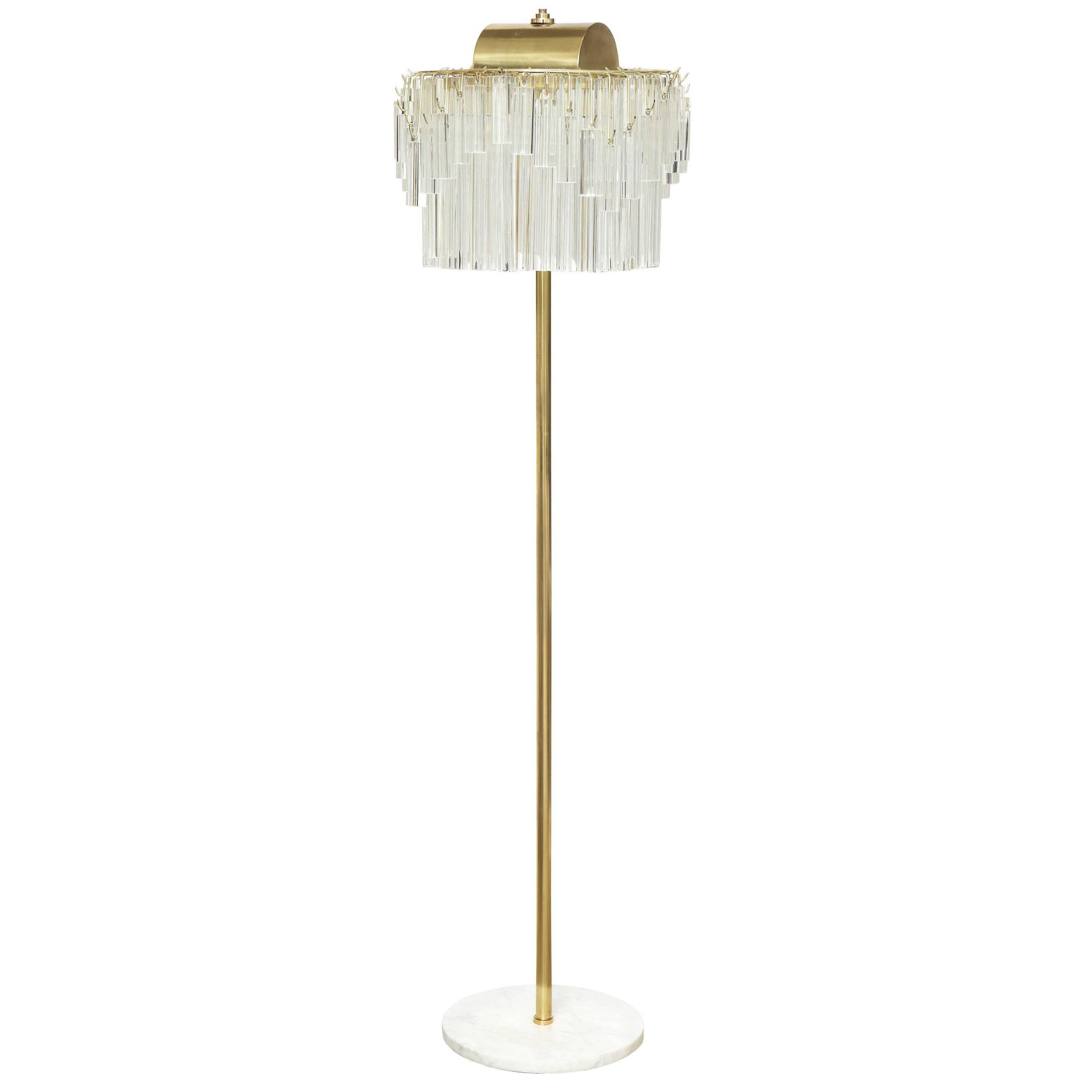 Venini Crystal Prism Floor Lamp