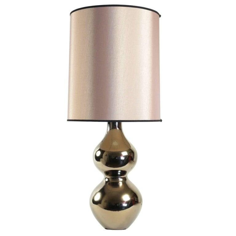 1960s Faience Lamp