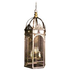 French Eight-Light Monumental Cherub Iron Lantern
