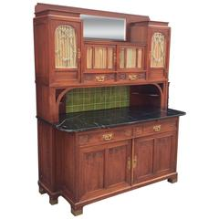 French Art Nouveau Bar Cabinet or Cupboard