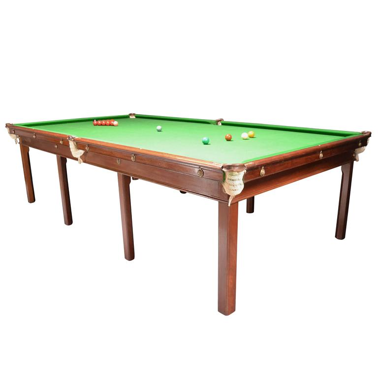 Billiard or snooker table gillows 10ft x 5ft circa 1800 for 10ft snooker table