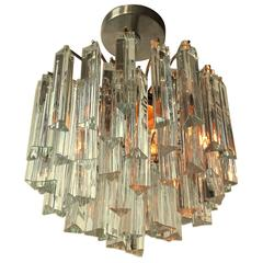Camer , Venini Solid Glass Chandelier or Pendant, 1960s, Italy