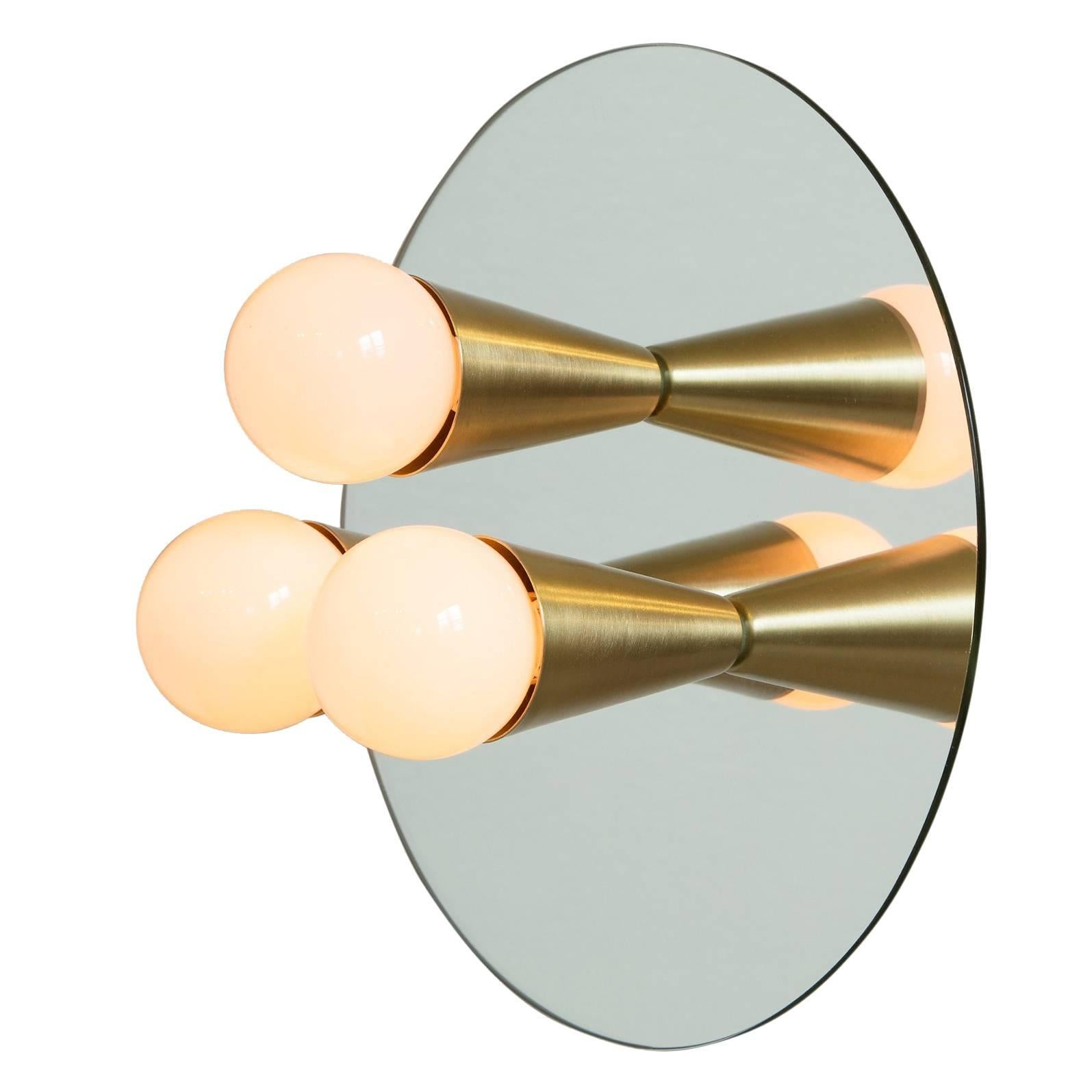 Echo Three-Sconce / Flush Mount in Brass, from Souda, Made to Order