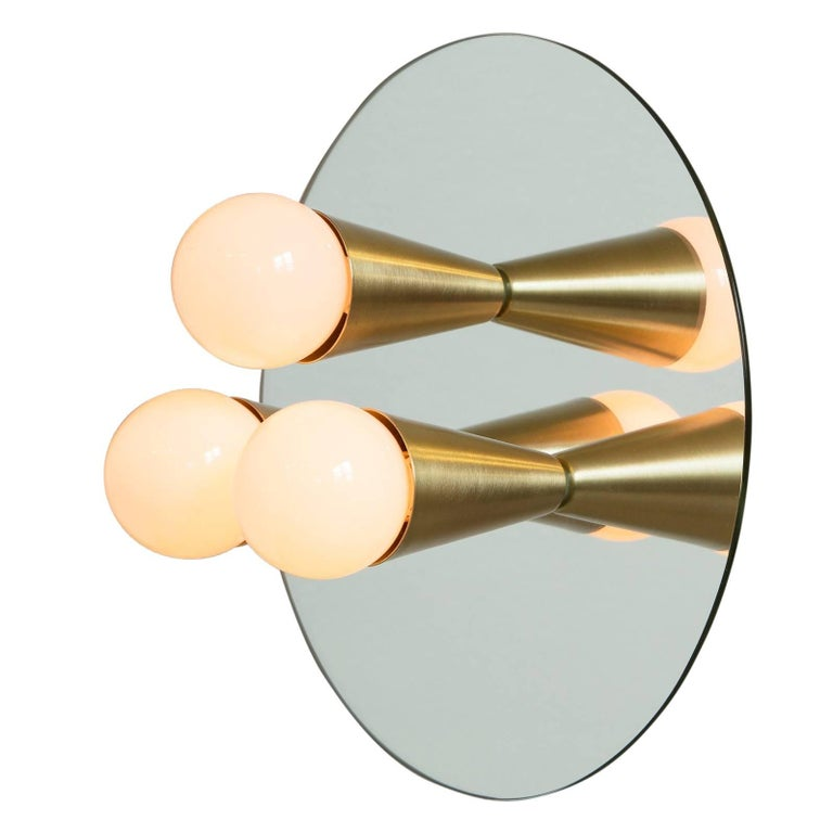 Echo Three-Sconce / Flush Mount in Brass, from Souda, Made to Order For Sale