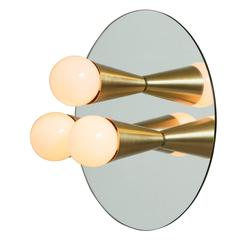 Echo Three-Sconce / Flush Mount in Brass, from Souda