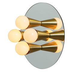 Echo Four Sconce/Flush Mount in Brass, from Souda, Made to Order