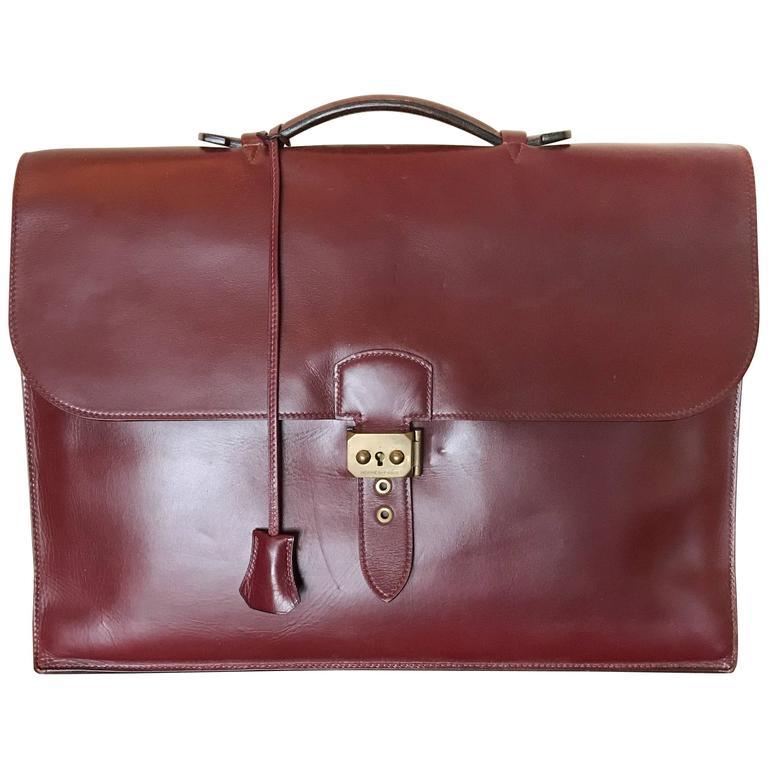 Hermès Sac à Dépêches Leather Briefcase