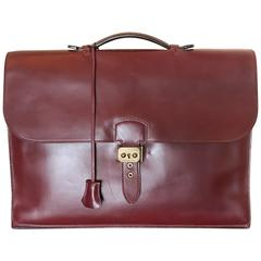 Hermès Sac à Dépêches Leather Briefcase