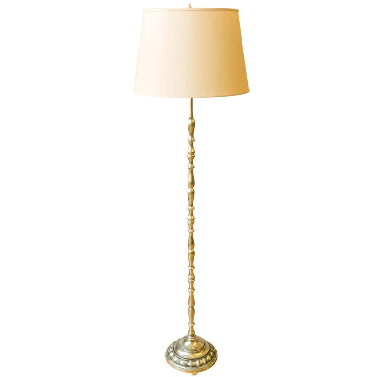 French 1940s Brass Floor Lamp
