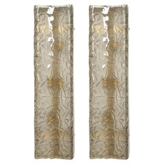 IItalian Murano Smoky Glass Sconces of Flush Mounts