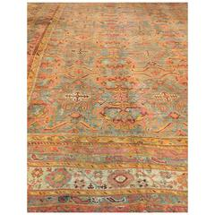 Antique Oversize Turkish Oushak Rug, circa 1890