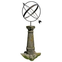 Beautiful Antique Sundial on a Stone Socle