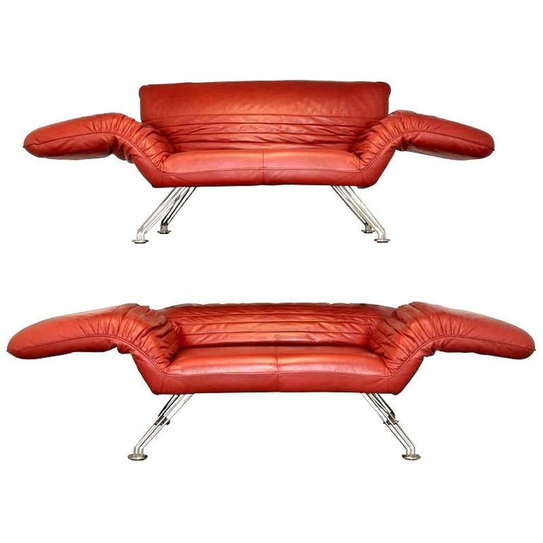 Pair of Swiss De Sede Sofa or Chaise Longue by Winfried Totzek, 1988