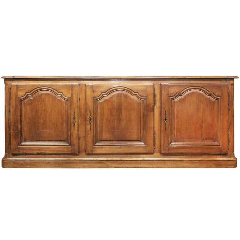 French Walnut Provençale Three-Door Enfilade with Inner Drawer, 19th Century