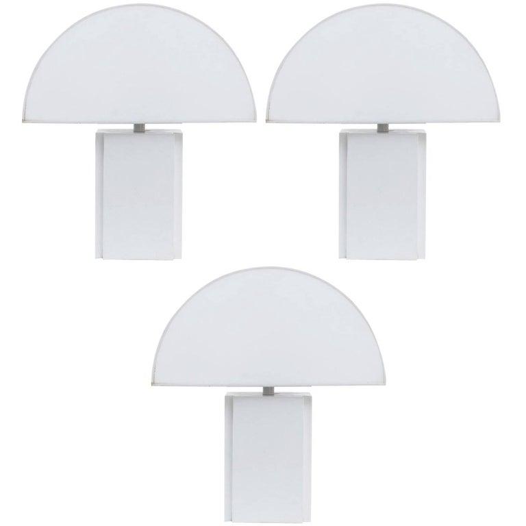 Harvey Guzzini Olympe Table Lamp Ed Italy 1970s For Sale