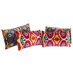 Set of Four Sumptuous Bold Pillows from Uzbekistan