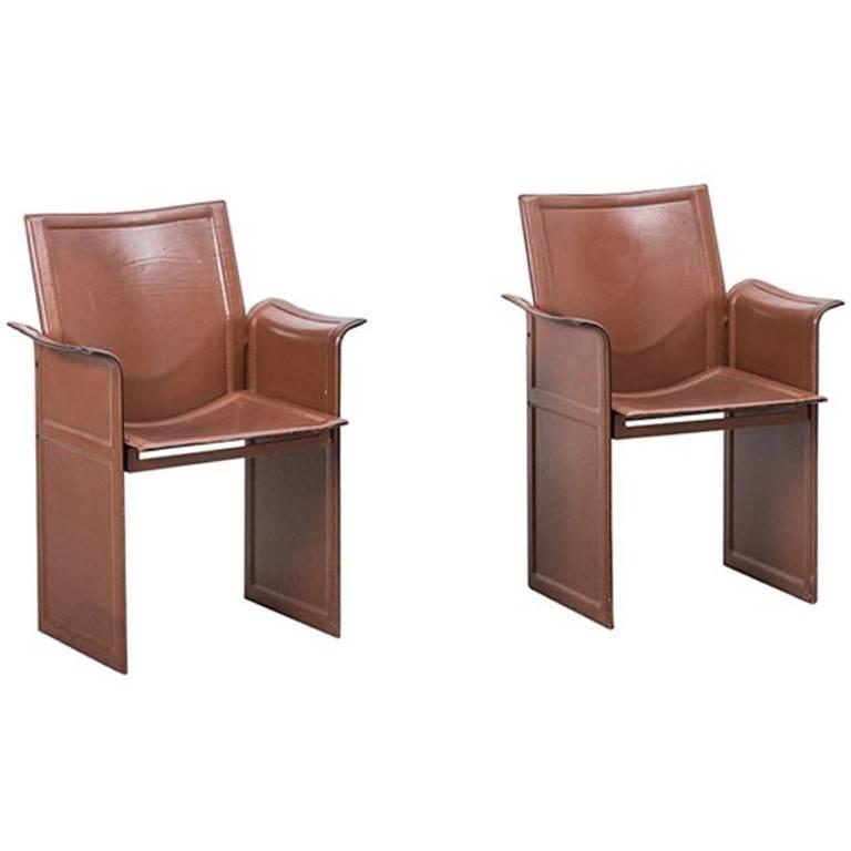 Tito Agnoli Korium Chairs Mateo Grassi Italy 1970s For