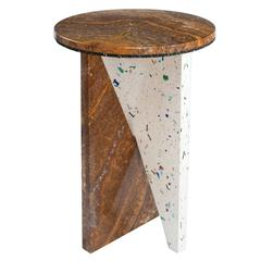 Onyx and Candy Engineered Stone Side Table by Jonathan Zawada, Made in USA