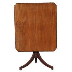 Antique Walnut Tilt-Top Table, circa 1830-1850