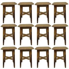 12 Italian 1940s Stools in the Modern Neoclassical Style