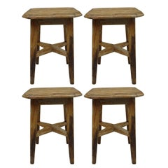 4 Italian 1940s Stools in the Modern Neoclassical Style
