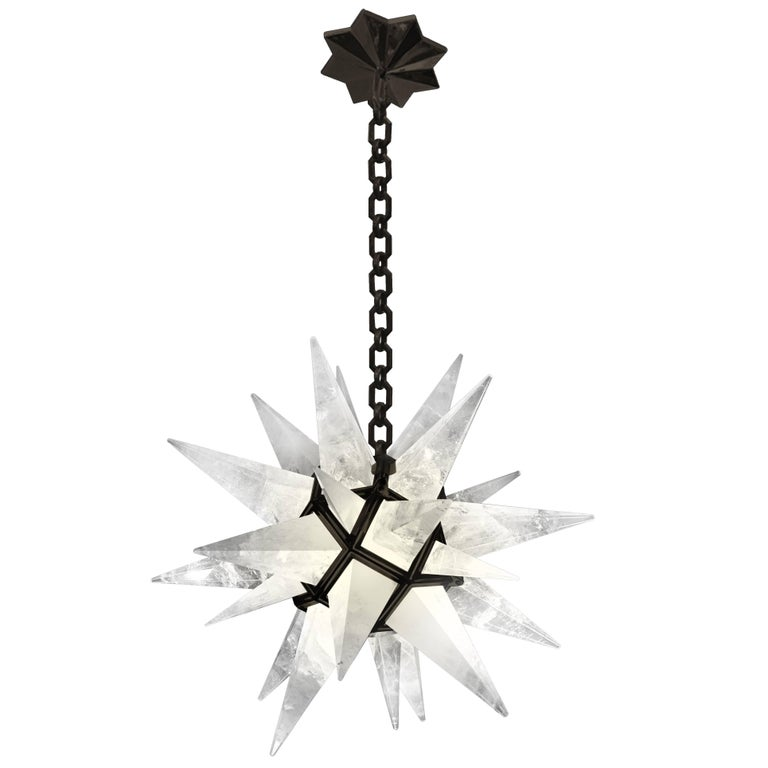 Contemporary Rock Crystal Quartz Star Chandelier For Sale At Stdibs - Quartz chandelier crystals