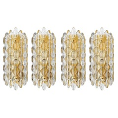 Carl Fagerlund for Orrefors Crystal Sconces