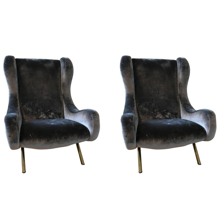 Pair of Senior armchairs by Marco Zanuso