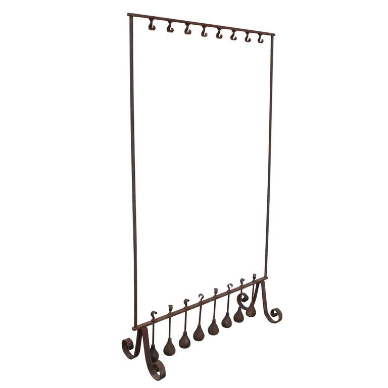 antique wrought iron free standing coat rack for sale at. Black Bedroom Furniture Sets. Home Design Ideas