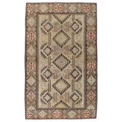 Antique Russian Bessarabian Kilim Flatweave Rug