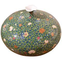 Japanese Green Contemporary Porcelain Vase by  Master Artist