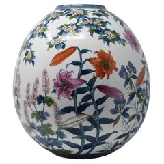 Large Contemporary Japanese Imari Hand-Painted Porcelain Vase by Master Artist
