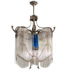 Art Nouveau Chandelier in the Style of Hector Guimard