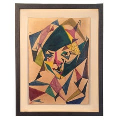 Original French Cubist Watercolor